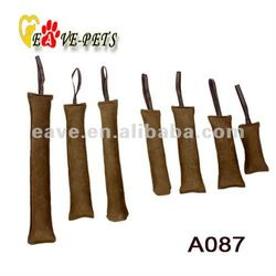 A087 Leather Material Dog Bite Tug 20CM, 30CM, 40CM, 50CM, 60CM Dog Training Products Factory