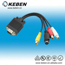 Good quality 20cm 15 pin s-video to vga cable
