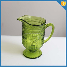 Creative 2015 Solid Color green colored glass pitcher for water