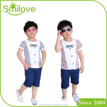 2015 boy t-shirt with collar cotton shirts child clothes fashion casual stripe shirt kids summer shirts short sleeve