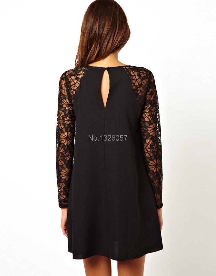 Кружевные платья с рукавами