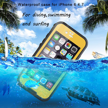 Waterproof phone case for iphone 6 swimming diving phone case with headset and strap