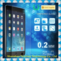 Big Promotion clear factory price tempered screen protector for Ipad mini