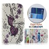 Butterfly wallet phone case for gionee E6 mini,drawing wallet phone cover for gionee E6 mini