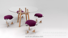 high quality comfortable acrylic kids folding table and chair