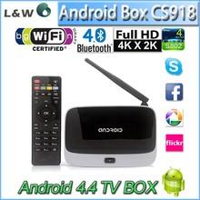 quad core google android 4.4 tv box cs918 External WiFi antenna Full HD MiNI PC