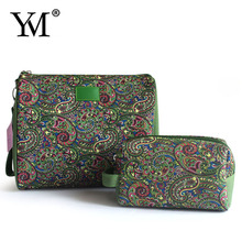2015 wholesale fashion canvas promotional floral gifts organizer cosmetic bag