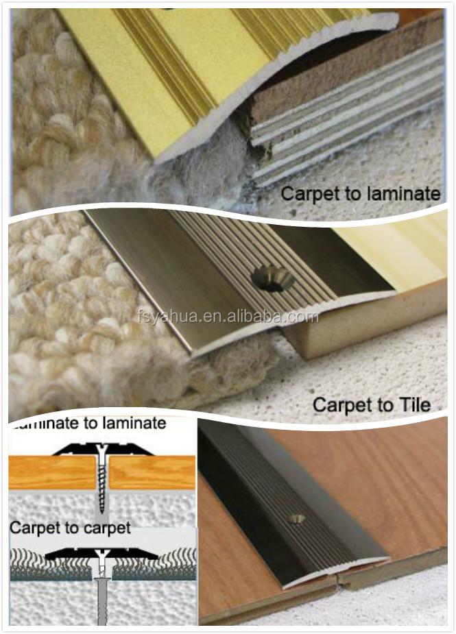 Carpet To Tile Transition Trim Anodised Aluminium Single Edge