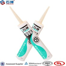 All purpose acetic acid silicone sealant with low modulus and fast curing