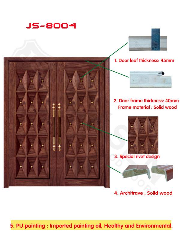Contemporain conception de la porte d 39 entr e 3d effet for Porte principale en bois
