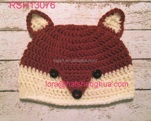 (RSH13076) Wholesale Children Fox Knitted Animal hat