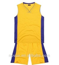 Basketball Jersey Shirts Design 100% Polyester Knit Jersey Fabric Print Your Team Name