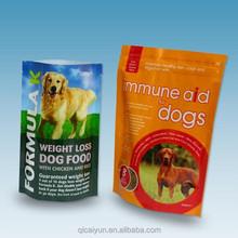 food grade ziplock plastic bags/Bottom gusset Plastic pet food bag with top resealable ziplock