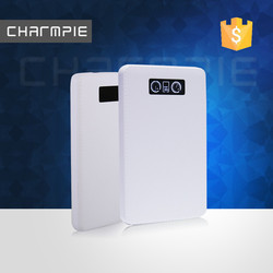 cell phone external battery/outdoor mobile battery with led screen power bank 20000mah
