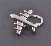 Creative Promotional Stereo Fadeless Metal Zinc Alloy Fighter Aircraft Plane Keychains