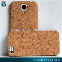 Hot selling mobile phone case cork wood case for samsung galaxy s4 i9500