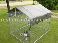 metal pet dog cage crate kennel with cover