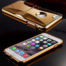 Gold Chrome kickstand Cover Phone Case for iPhone 6 6 plus samsung s6 / s6 edge