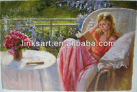 High Quality Canvas Oil Paintings For Young Girl