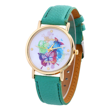 2015 New Flower Butterfly Pattern Watches Fashion Rhinestone Steel Case Luxury Casual Watches Ladies Watches