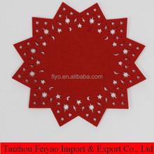 Star shaped felt christmas table mat