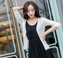 Thin cardigan sweater female cardigan sun protection clothing air-conditioned shirt Slim short sleeve sweater