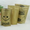 Guanghzhou supplier custom kraft paper with zipper for snack and beef jerky