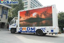 China 2012 Hot sale P16mm fullcolor mobile truck outdoor led clock temperature display for Rental and advertising