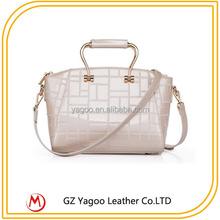 Elegant European PU Lady Bag Leather Brand Name Handbag Wholesale