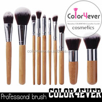 Daily need products private label 10pcs vegan bamboo makeup brush set