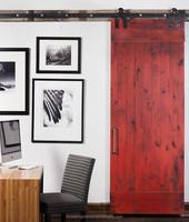 Classical style true barn door, wood sliding barn door made in China