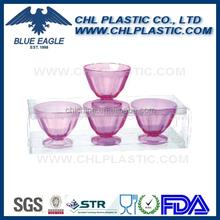 Promotional transparent plastic acrylic ice cream cup