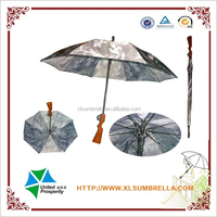 auto open metal frame fiber glass ribs with gun umbrella