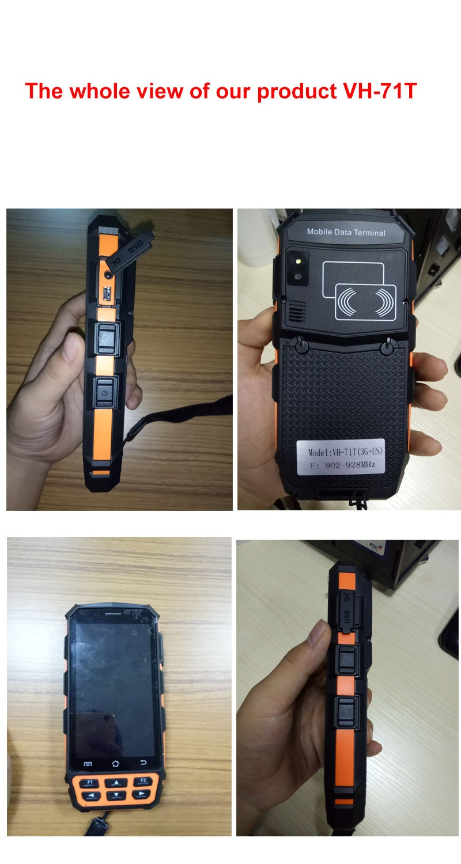 Handheld mobile android 1m middle range uhf bluetooth rfid reader