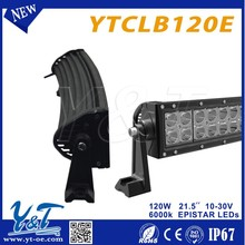 Y&T4x4 led light bar LED led light led for offroad heap led light bars 120w 21.5inch double rows curved led light bars for truck