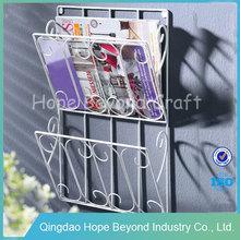 Metal office furniture metal hanging display racks hanging magazine display rack