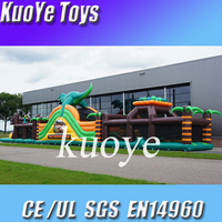 inflatable dino obstacle,commercial inflatable obstacle,commercial pvc inflatable obstacle