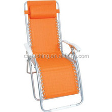 High back modern folding relax chairs with adjustable headrest