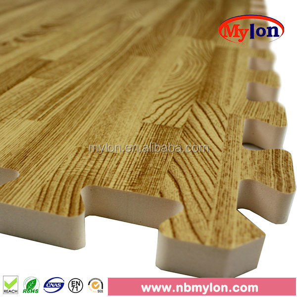 Wood foam floor tiles