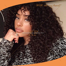 Aaaaaa Grade Top Quality 22 inch 100% Unprocessed Human Hair Indian Hair Oprah Curl Full Lace Wig Lace Wig