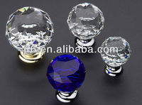 2015New Arrival Blue Octagonal Crystal Drawer Knob