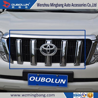 for 2014 Toyota Land Cruiser Prado Exterior Accessories High quality ABS chrome car front grille moulding trim trims bar