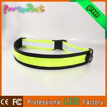 led waist belt printed elastic waistband
