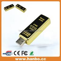 logo print gold bar usb flash drive