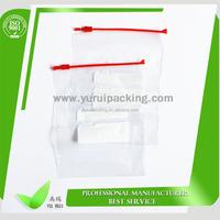 Plastic slider packaging resealable bags