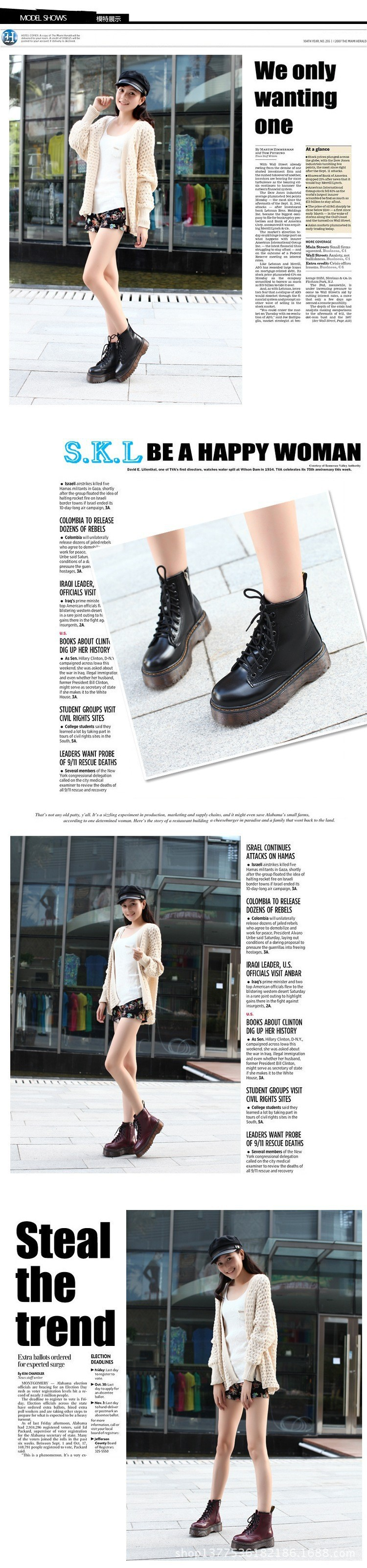 Platform Winter Warm Fur Boots Womens Creeper Motorcycle Ankle Martin