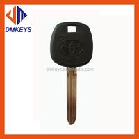 popular car key blank with solid brass blade black rubber for toyota car key blanks custom logo for key blanK