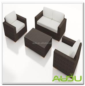Audu Монреаль открытый черный столовая плетеная мебель из ротанга
