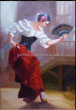 100% Handmade Flamenco Dancers Oil Painting by Fabian Perez