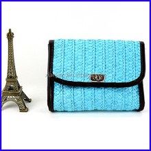 Wholesale Stocked Hand Crocheted Straw Envelope Clutch Cross-Body Bags (LCHHB112)